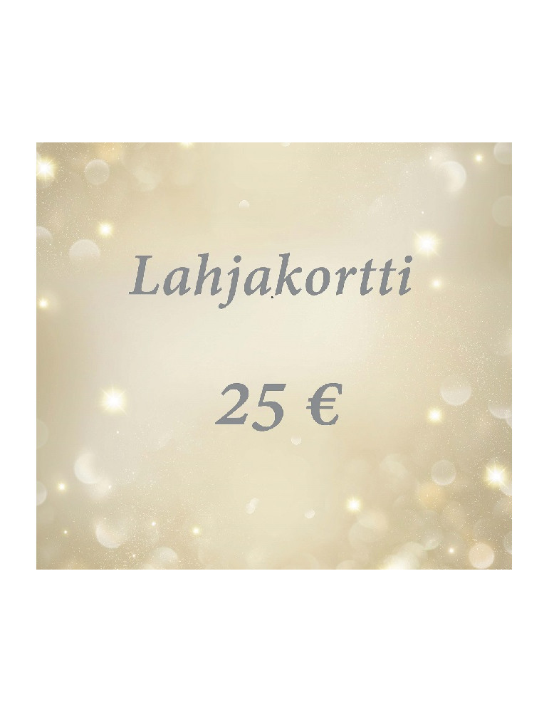 Lahjakortti 25 euroa