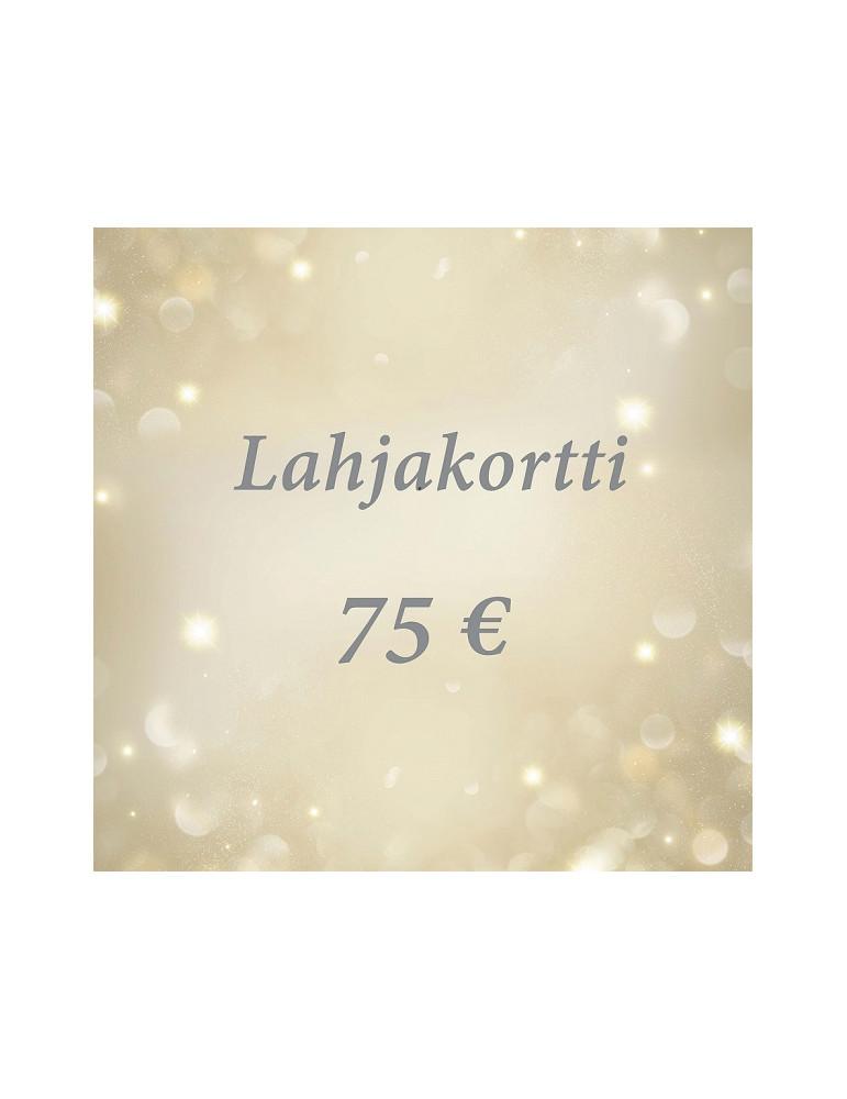 Lahjakortti 75 euroa