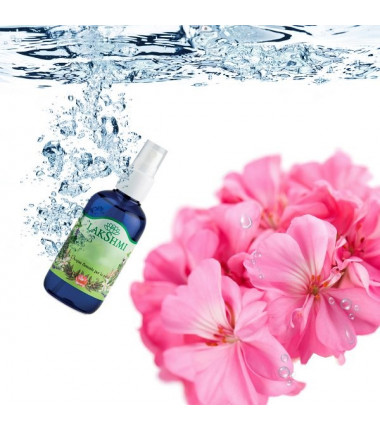 Geranium rose floral water